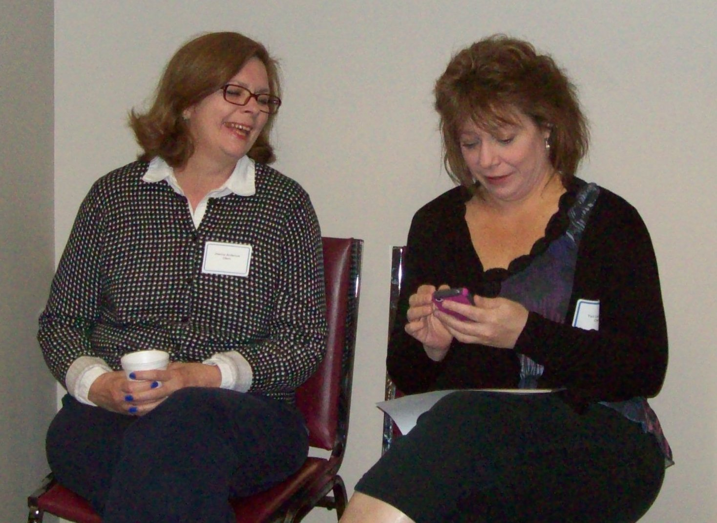 County Appreciation Breakfast Clients chatting cropped