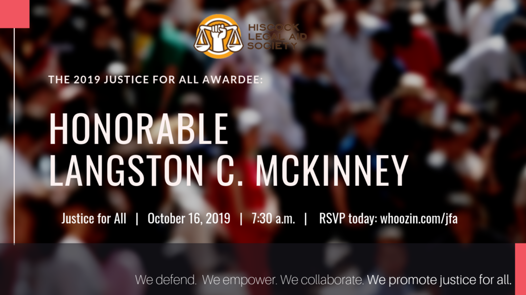 Langston C. McKinney JFA Awardee